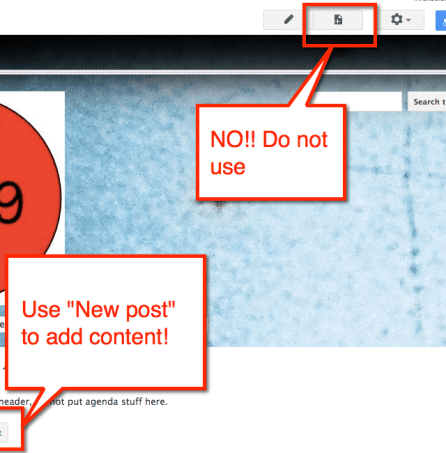 Google Sites New Post