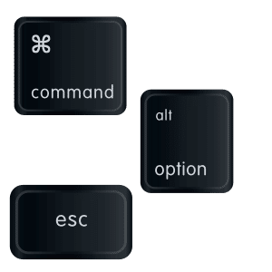 Mac command option esc