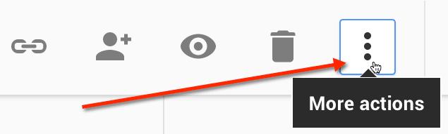 Google Drive more icon