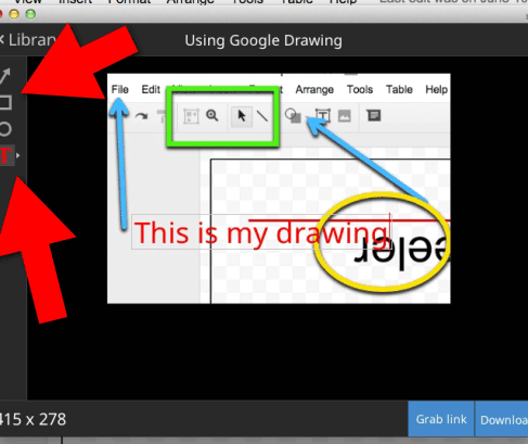 annotate the screen shot