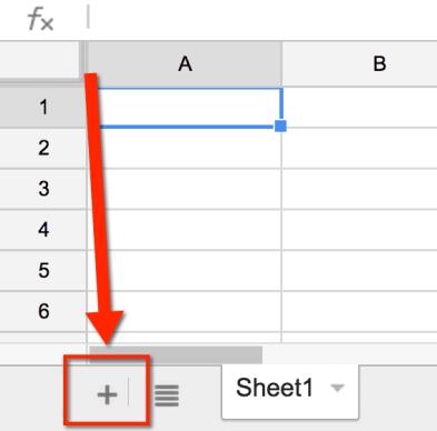new tab google sheets