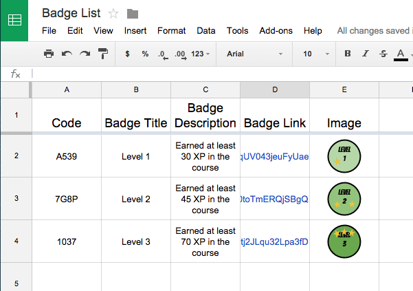Creating Badges With Google Sheets Teacher Tech