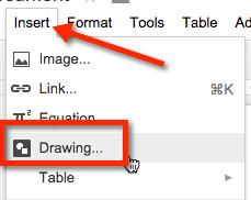 Insert Google Drawing
