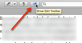 Preview Edit Toolbar
