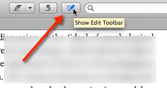 Preview Edit Toolbar
