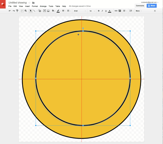 Google Drawing alignment