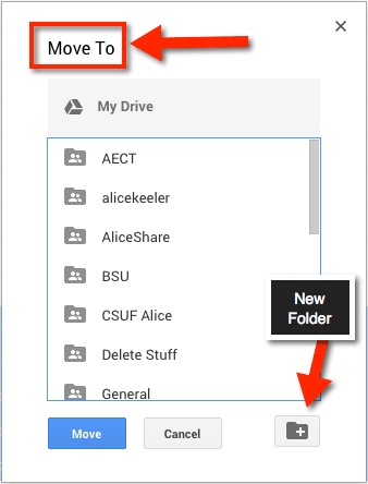 Google Drive Move File