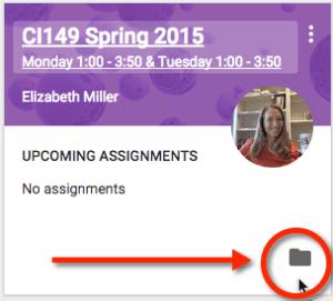 Google Classroom Folder