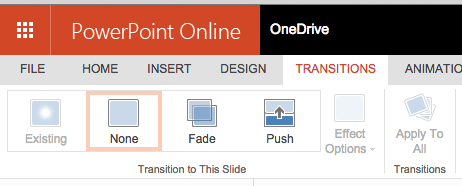 PowerPoint slide transitions