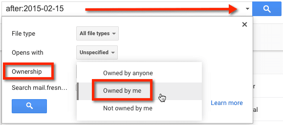Google Drive Owned by Me