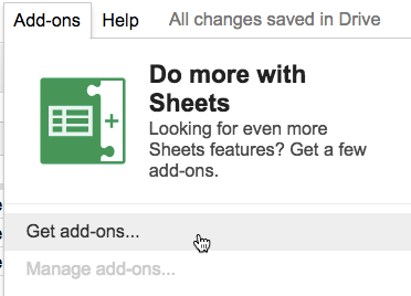 Google Sheets Add-Ons