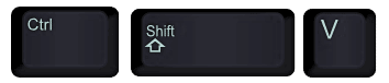 Control Shift V