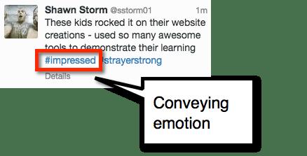 emotion tweet hashtag