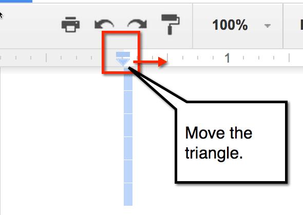 Move the triangle