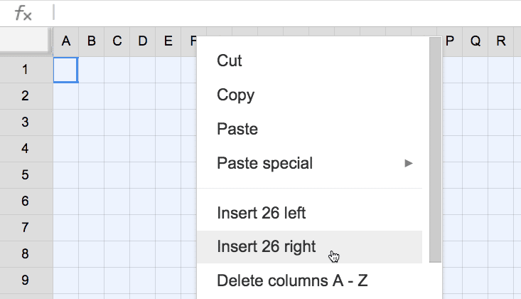 fill out your pixel art grid by adding more columns to your spreadsheet