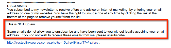 yes, this is spam