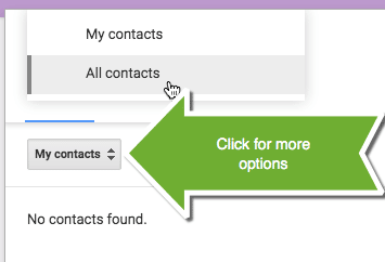 "Click ""My Contacts"" for All Contacts"
