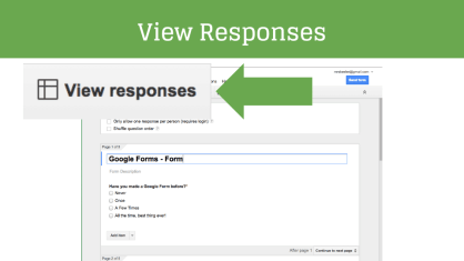 Click on view responses in the edit screen