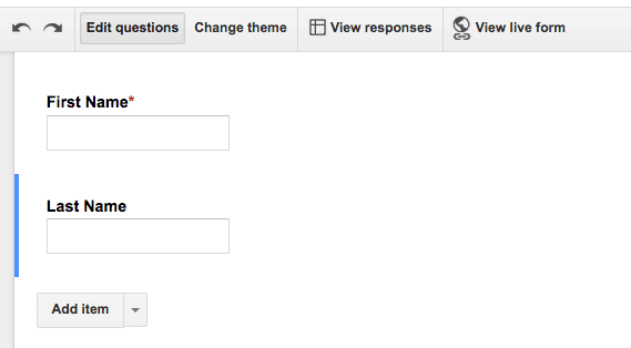 Google Form First and Last Name separate