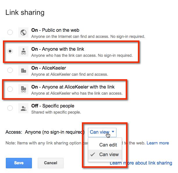 google drive mac how to share folder