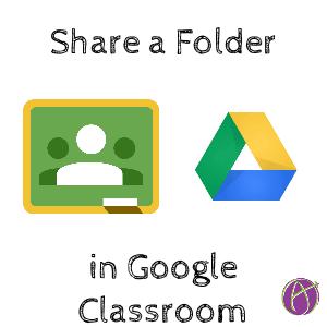 share a folder in google classroom