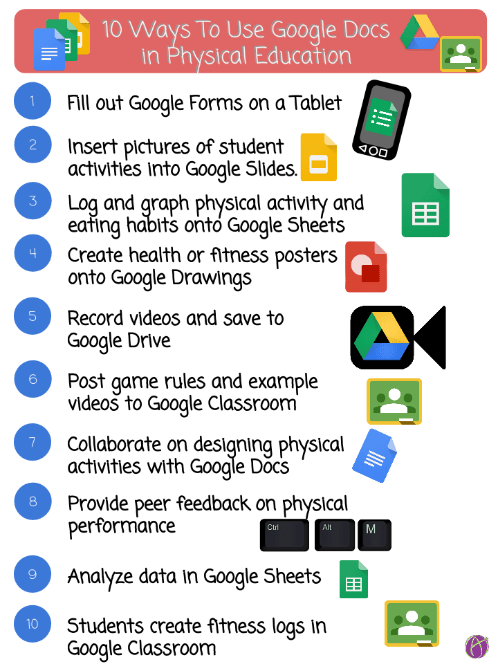 10 ways to use google docs in physical education teacher tech