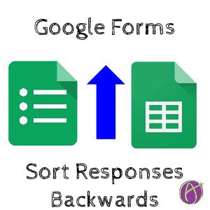 Google Forms Sort Responses