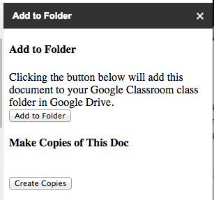 create copies button