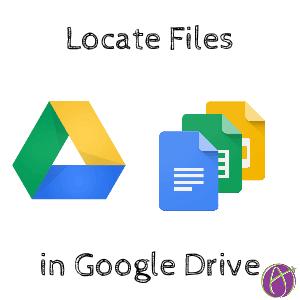 locate files