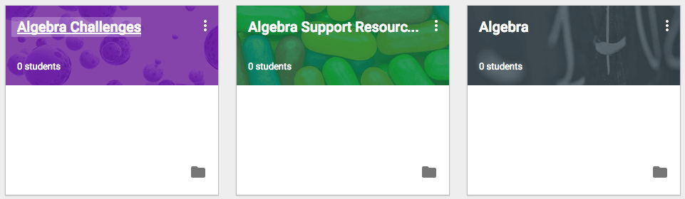 Multiple classes for Algebra
