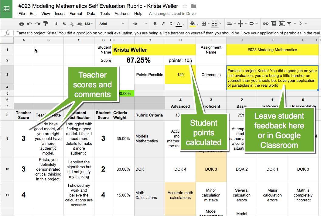 Teacher Rubric