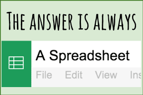 Jonathan Rochelle the answer is always a spreadsheet