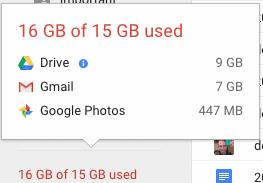 Locate large files