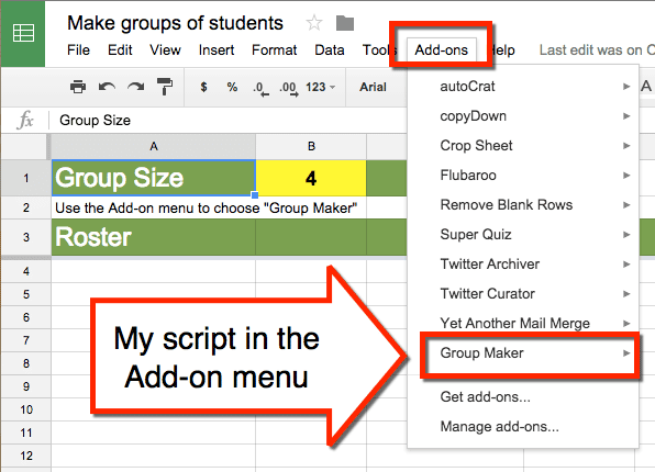 how to create a pulldown in google script