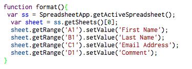 format code