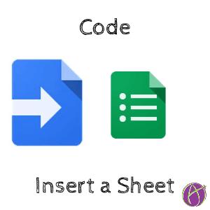 code insert sheet