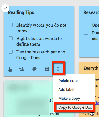 Copy to Google Doc