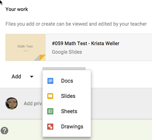 Student creates Google Doc