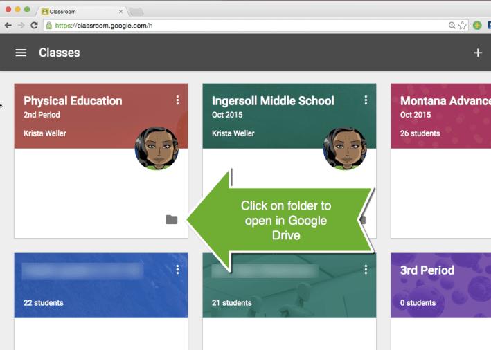 Google Classroom Class folder