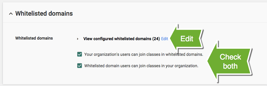 Google Classroom: Work with Other Schools - Whitelist a Domain