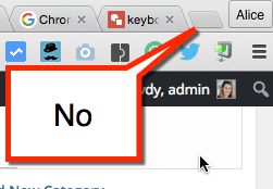 Avoid opening a tab with a click