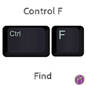 Control F find
