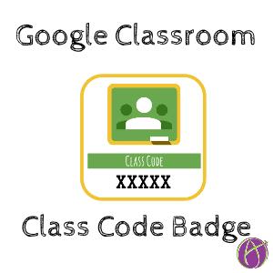 Google Classroom class code badge