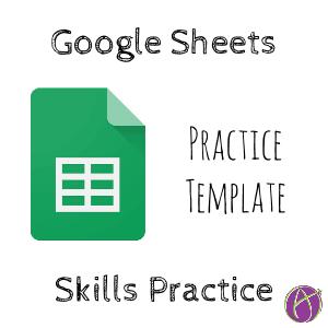 Google Sheets Student Practice Template Teacher Tech