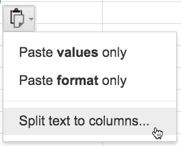 split text to columns