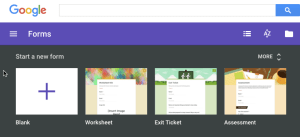 Forms website template