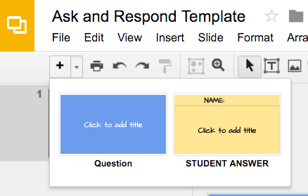 Google Slides Ask Template