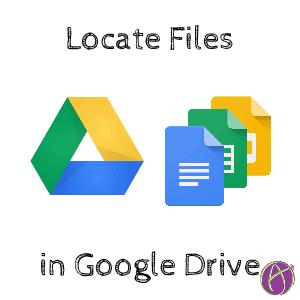 Google Drive locate files