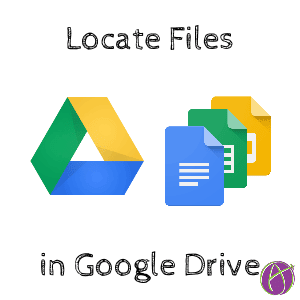Locate files in Google Drive