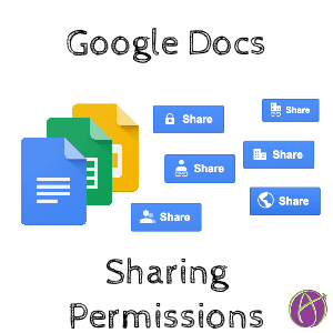 google docs set sharing permissions